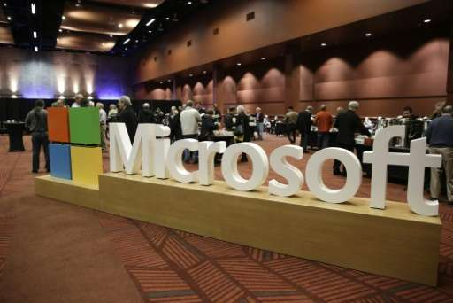 Microsoft's quarterly profit figure topped Wall Street expectations, while the revenue was roughly in line