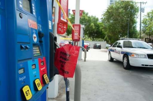 Motorists have been waiting for hours to fill up at gas stations in southern Florida before driving northwards