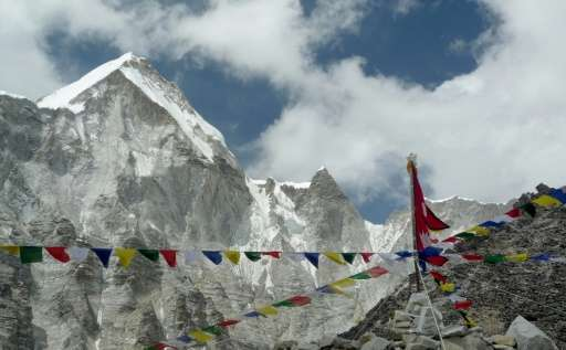 Mount Everest officially stands at8,848 metres (29,029feet) above sea level
