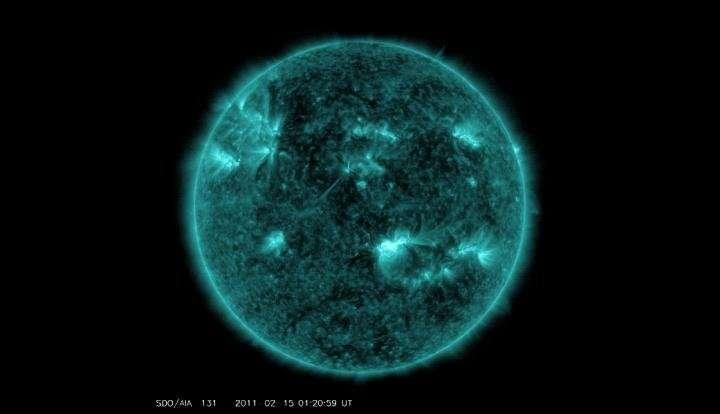 NASA detects solar flare pulses at Sun and Earth