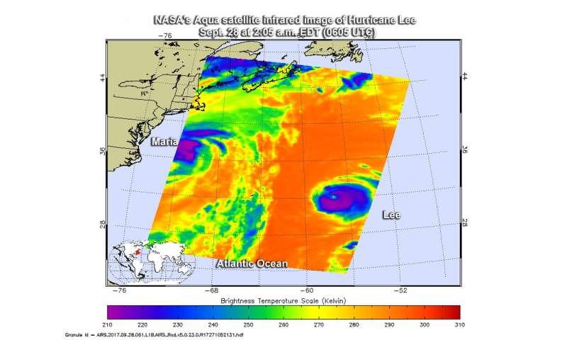 NASA finds Hurricane Lee's strength shift