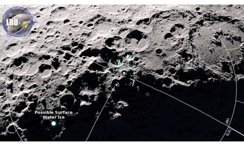 NASA orbiter finds new evidence of frost on moon's surface