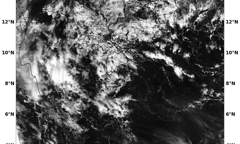 NASA's Aqua satellite sees Tropical Depression 01W ending near Southern Vietnam