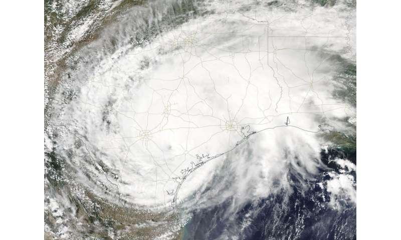 NASA sees a slow-moving, soaking Tropical Storm Harvey