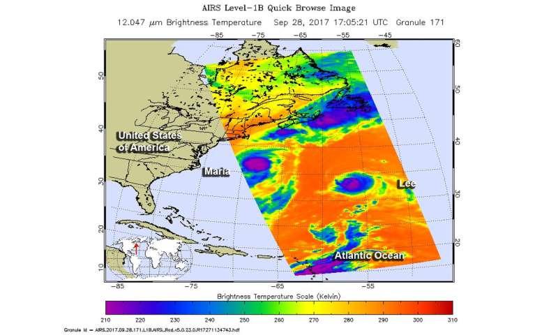 NASA sees a weaker Hurricane Lee headed to the UK