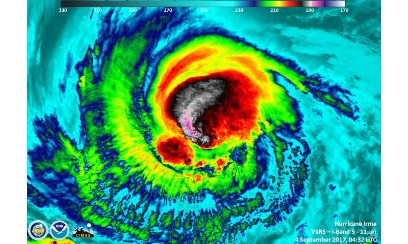 NASA sees Irma strengthen to a category 5 hurricane