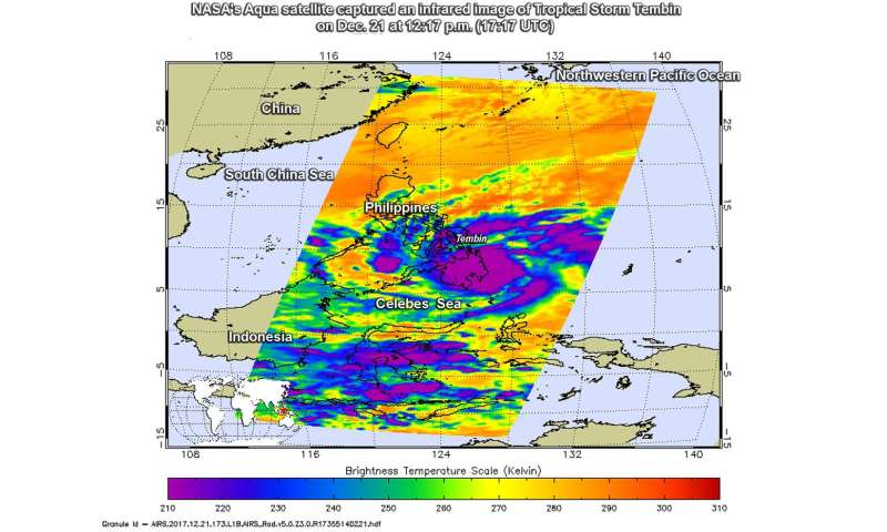 NASA sees second Tropical soaking in Southern Philippines