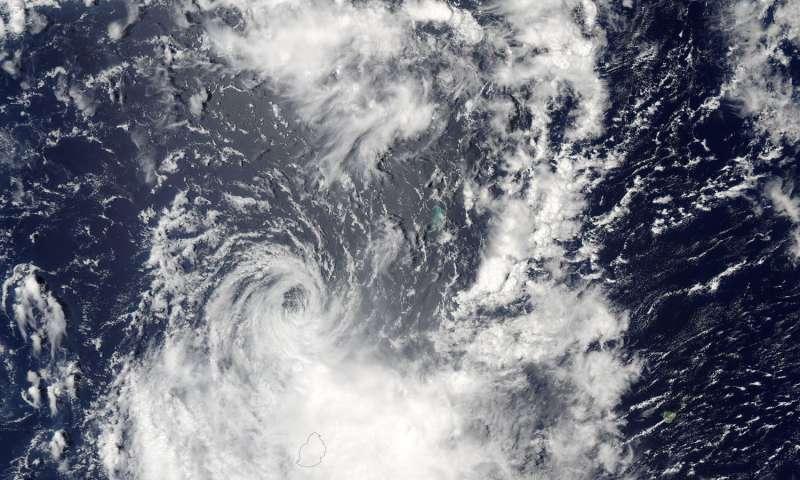 NASA sees Tropical Cyclone Carlos over La Reunion and Mauritius