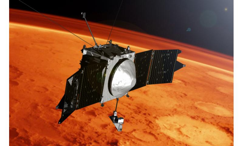 NASA's MAVEN reveals Mars has metal in its atmosphere