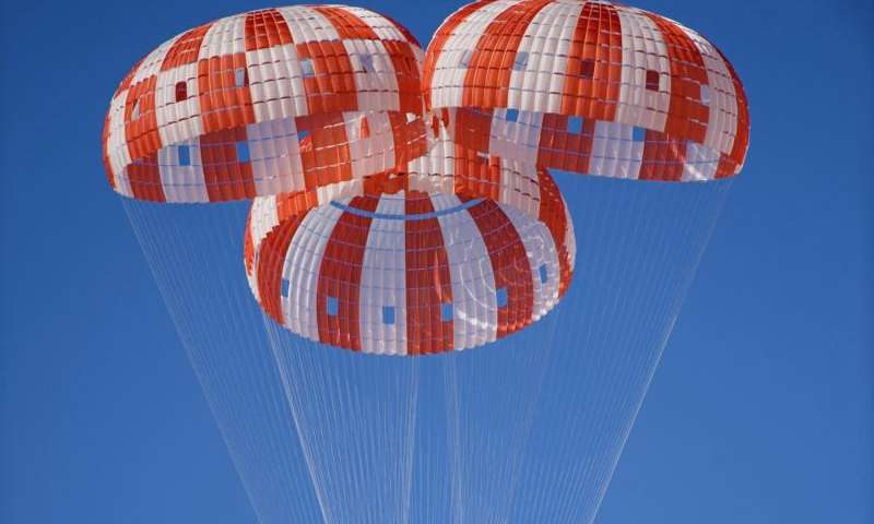 NASA's Orion spacecraft parachutes tested at U.S. Army Yuma proving ground