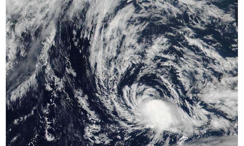NASA spots a waning Tropical Depression Kulap