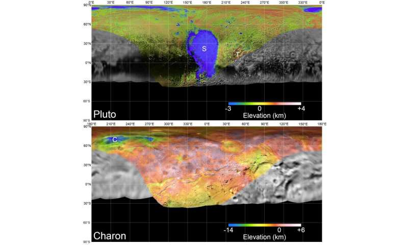 New horizons unveils new maps of Pluto, Charon on flyby anniversary
