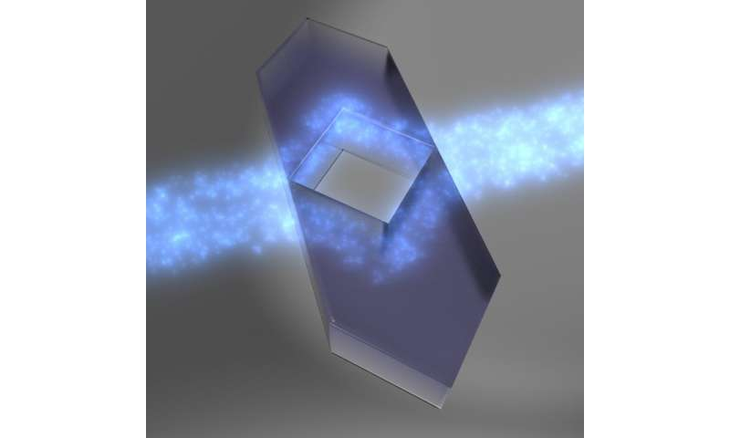 New invisibility cloak to conceal objects in diffusive atmospheres