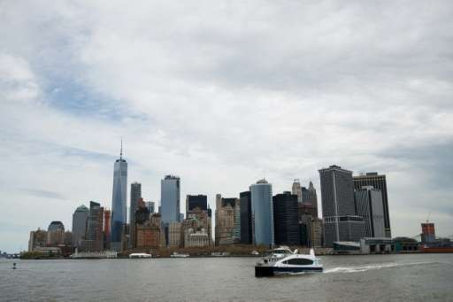 New York Mayor Bill De Blasio Rides New Citywide NYC Ferry