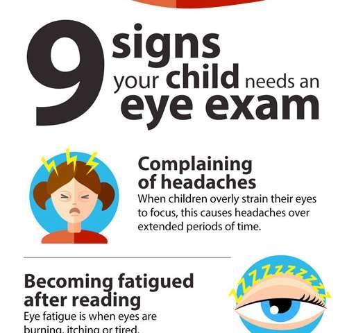 Nine signs children may need an eye exam