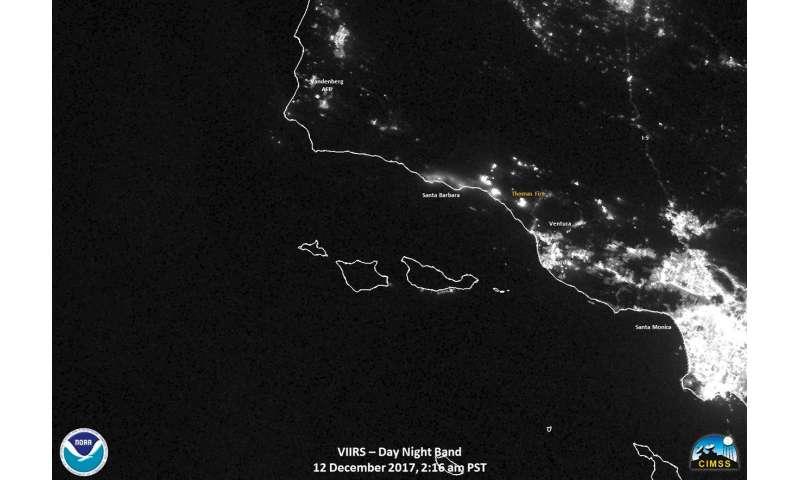 NOAA/NASA's Suomi NPP satellite provides copious information on California's fires
