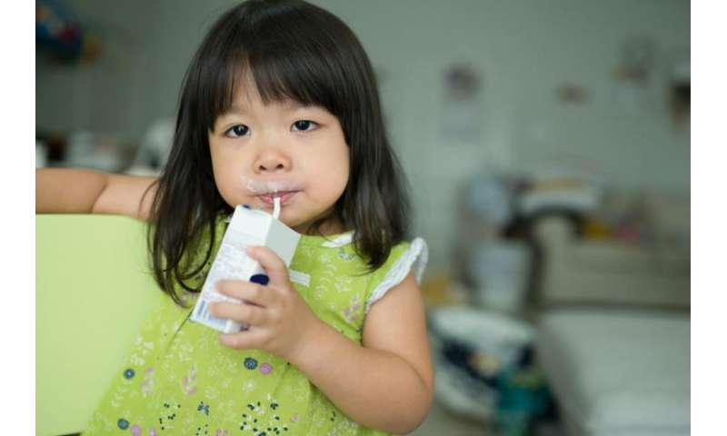 No chocolate milk? No problem—kids get used to plain milk