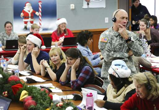 NORAD takes calls from kids around the world awaiting Santa