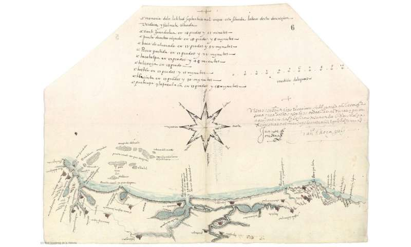 One of the first examples of a local nautical map from Hispanic America