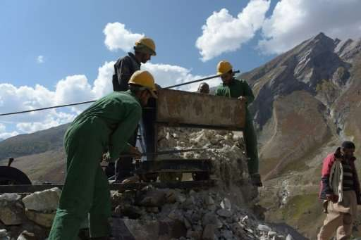 Pakistani Kashmir has just one mine and one exploration site, where miners dig to assess the potential of the jewels below.