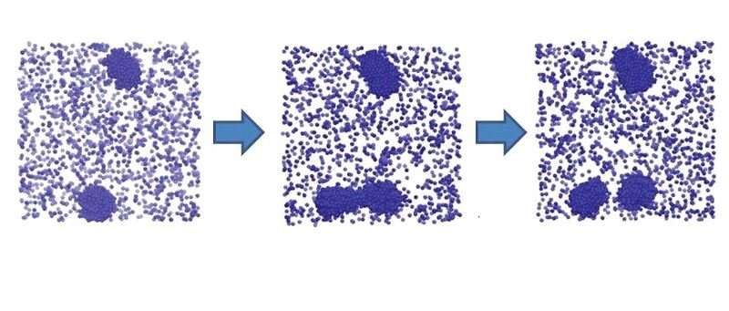 Particles in charged solution form clusters that reproduce