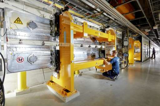 Part of the system of the European XFEL X-ray Free Electron laser at the XFEL facility near Hamburg, northern Germany