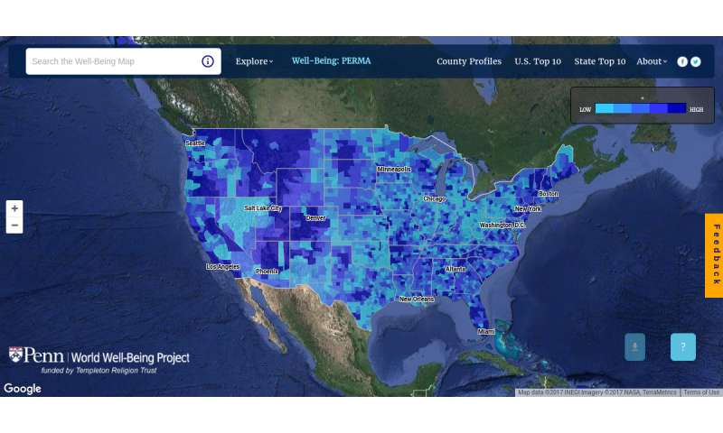 Penn interactive map shows community traits built from more than 37 billion tweets