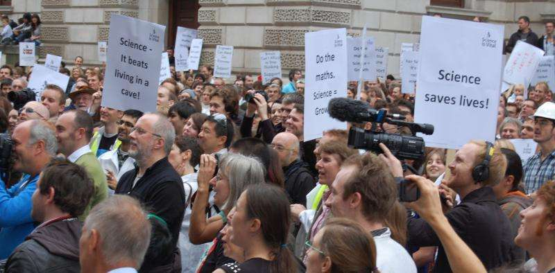 People are taking to the streets to defend science – but it could come at a cost