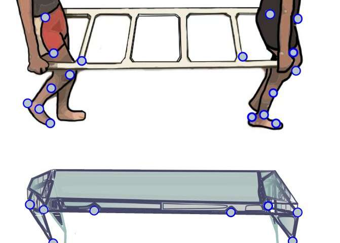 People synchronize their walking gaits when carrying a stretcher-like object together