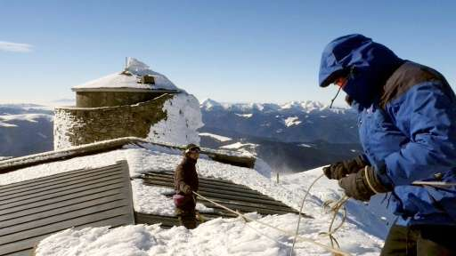Perched spectacularly 2,000 metres up on a snowcapped peak in Ukraine's Carpathian Mountains, the Bilyi Slon observatory has sto