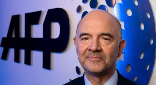 Pierre Moscovici, Commissioner for Economic and Finacial Affairs, Taxation and Customs of the European Commission poses for a ph
