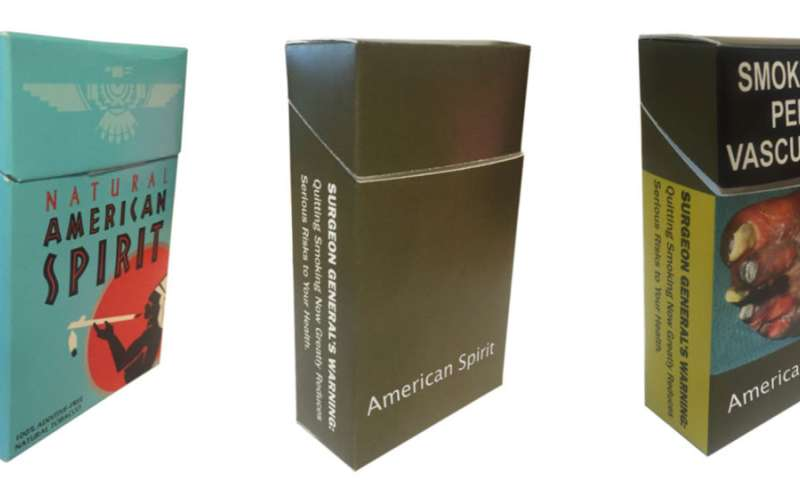 Plain cigarette packaging may reduce incorrect impression of product's safety