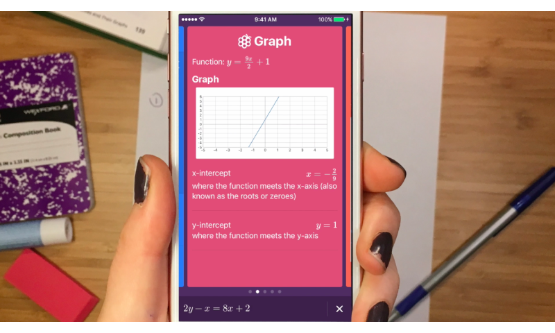 Polynomials without tears thanks to Socratic app