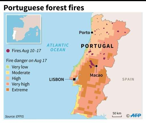 Map Of Fires In Spain 2017.Wildfires Trap 2 000 Villagers In Portugal