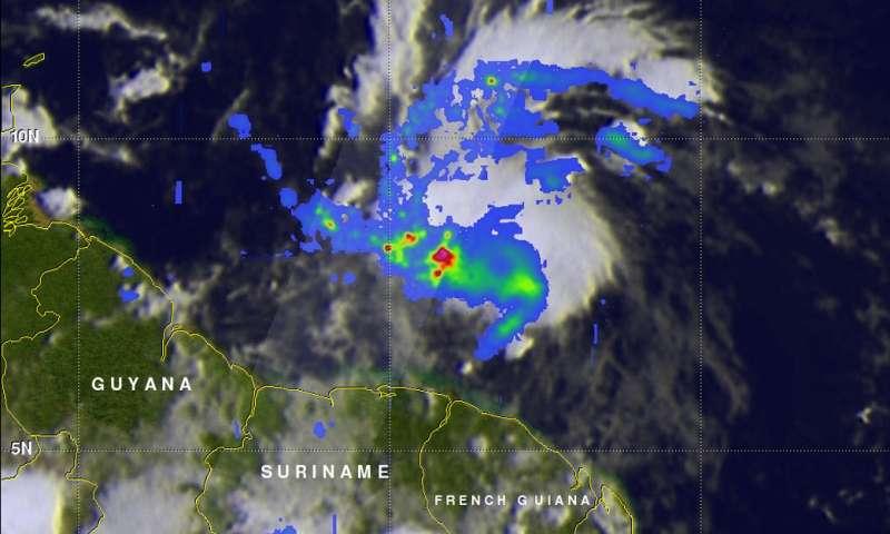Potential Atlantic Ocean Tropical Cyclone 2 examined by NASA