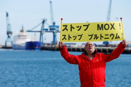 Protesters say the nuclear shipment is too dangerous