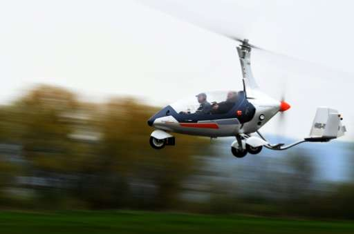 """""""Everyone is trying to make a high-speed car that can fly, but this is a different thing,"""" says Pavel Brezina (L), own"""