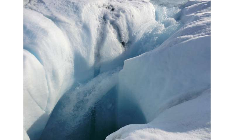 Radar reveals meltwater's year-round life under Greenland ice