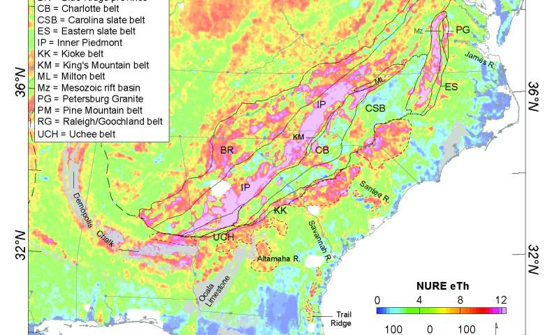 Rare Earth element mineral potential in the southeastern US coastal plain