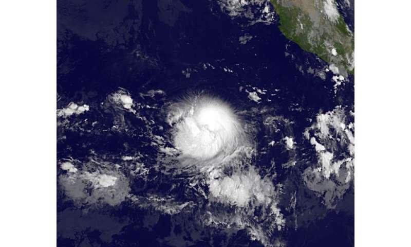 Satellite sees Tropical Storm Fernanda heading west