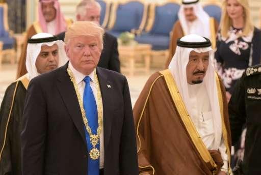Saudi Arabian King Salman may not tweet often, but he gets a bigger response than Donald Trump's regular posts