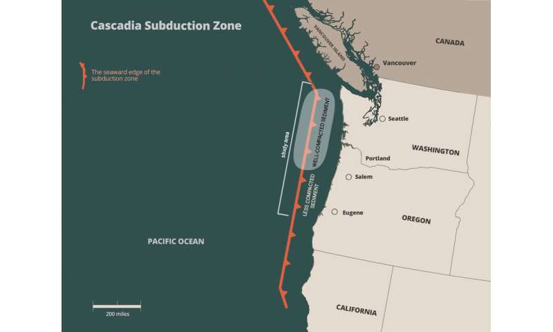 Seafloor sediments appear to enhance Earthquake and Tsunami danger in Pacific Northwest