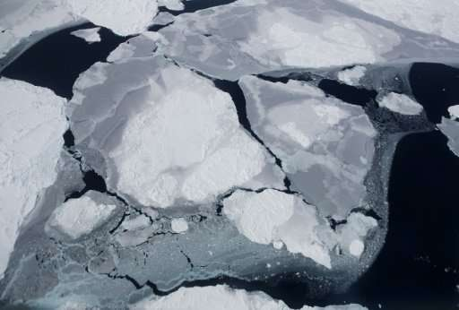 Sea ice as viewed from NASA's research aircraft in the Antarctic Peninsula region this month.Scientists warn that Earth is headi
