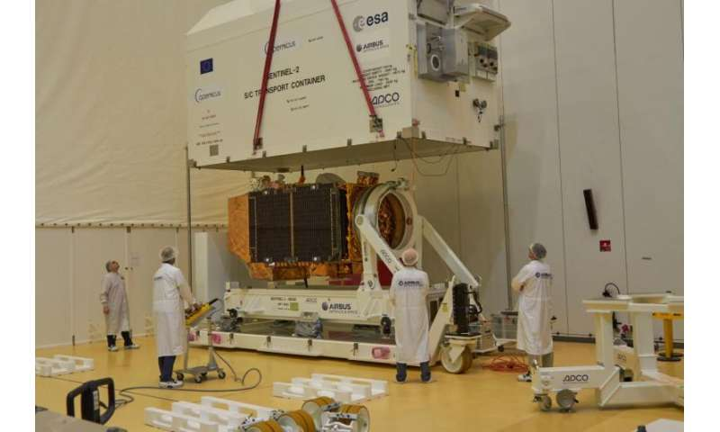 Sentinel-2B launch preparations off to a flying start