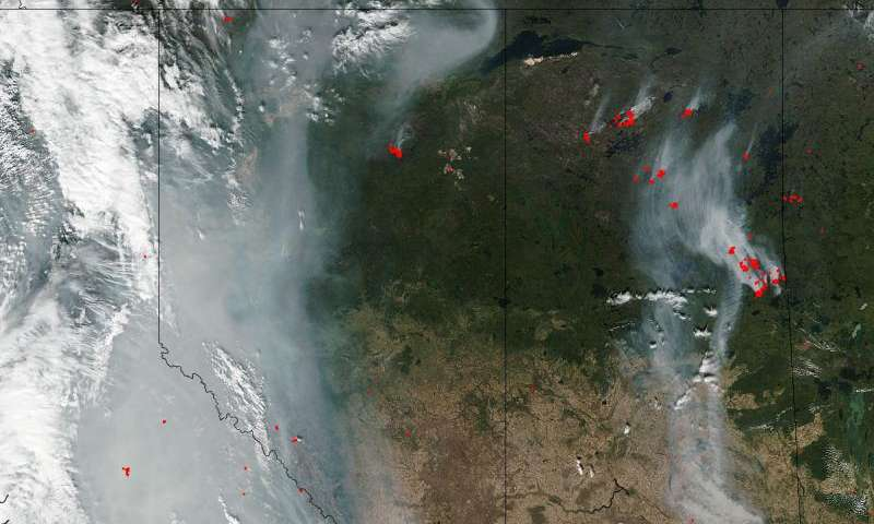 Smoke lingers over western U.S. and Canada