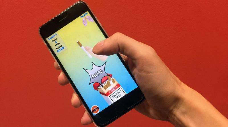 Smokers keen to break the habit as part of New Year's resolutions can now play games to help them quit with new smartphone app