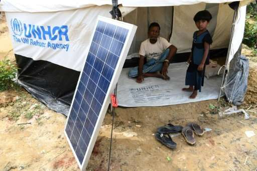 Solar panels were among the few precious possessions Rohingya refugees grabbed as they fled their villages in Myanmar