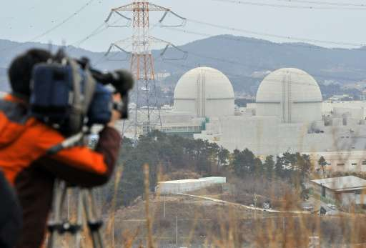 South Korea currently operates 25 nuclear reactors, which generate about 30 percent of the country's power supply