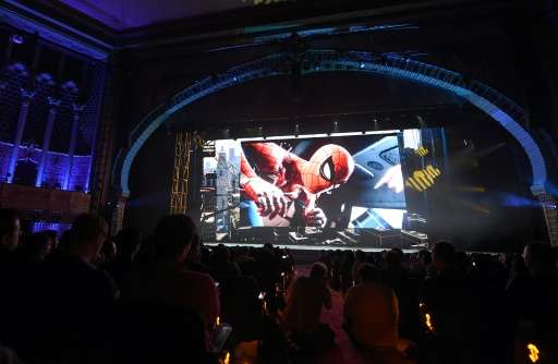 Spider-Man PS4 game, scheduled for release in 2018, is presented during the Sony PlayStation E3 2017 Media Showcase at the Shrin
