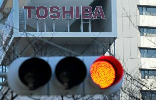 Standard & Poor's has cut its credit rating on embattled Japanese industrial giant Toshiba to 'CCC-' and warned the company'